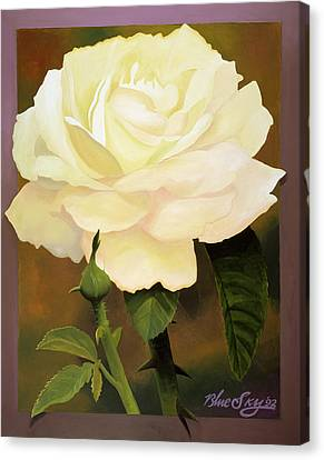 Yellow Rose Canvas Print by Blue Sky