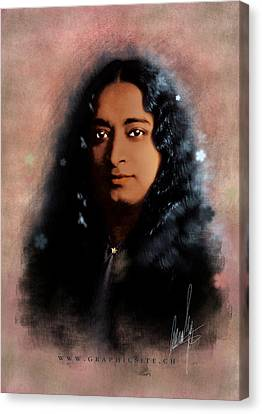 Yogananda Canvas Print by Graphicsite Luzern