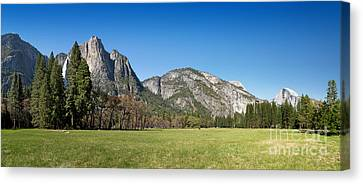 Yosemite Meadow Panorama Canvas Print by Jane Rix
