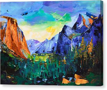 Yosemite Valley - Tunnel View Canvas Print by Elise Palmigiani