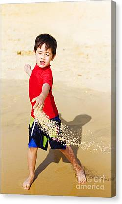 Enjoyment Canvas Print - Young Asian Boy On Vacation by Jorgo Photography - Wall Art Gallery