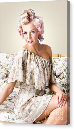 Hairstyle Canvas Print - Young Beautiful Woman. Immaculate Blond Hairstyle by Jorgo Photography - Wall Art Gallery