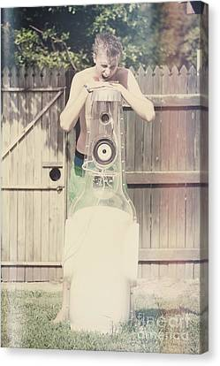 Young Man Singing Along To Summer Beer Songs Canvas Print by Jorgo Photography - Wall Art Gallery