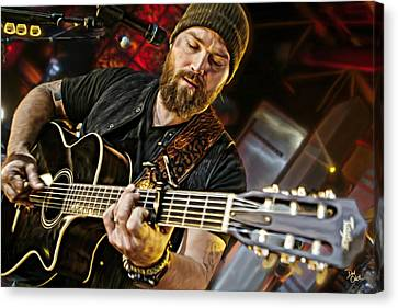Zac Brown Canvas Print by Don Olea