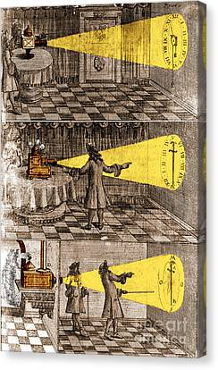 Zahn Light Projection Apparatus 1685 Canvas Print by Science Source