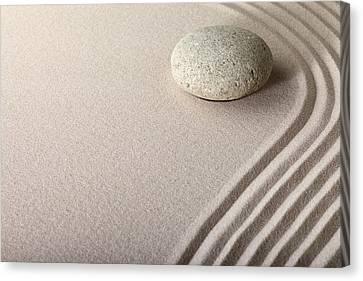 Zen Sand Stone Garden Canvas Print by Dirk Ercken