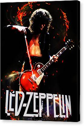 Drummer Canvas Print - Zeppelin by FHT Designs