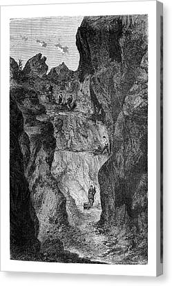 Zinc Mine Canvas Print by Science Photo Library