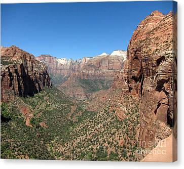 Zion Canyon Overlook Canvas Print