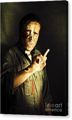 Zombie Death Threat Canvas Print by Jorgo Photography - Wall Art Gallery