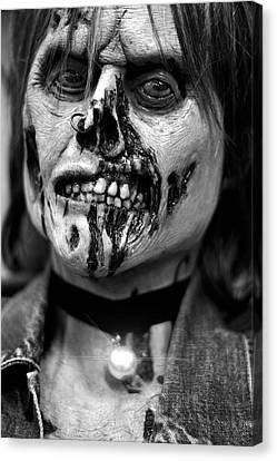 zombie face Carnen Canvas Print
