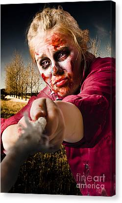 Zombie Pulling Tug Of War Rope. Determined Spirit Canvas Print by Jorgo Photography - Wall Art Gallery