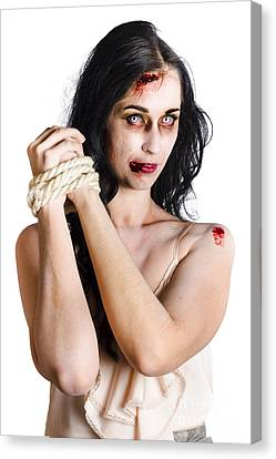 Zombie Tied Up Canvas Print