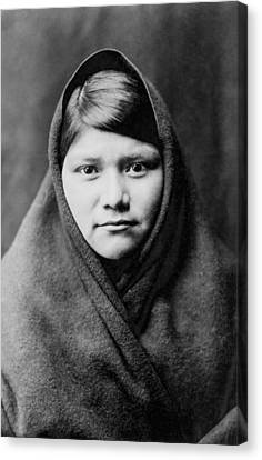 Indigenous Canvas Print - Zuni Girl Circa 1903 by Aged Pixel