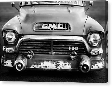 Gmc Canvas Print - 1957 Gmc V8 Pickup Truck Grille Emblem by Jill Reger