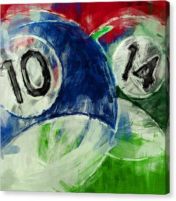 10 And 14 Billiards Abstract Canvas Print