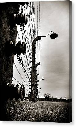 Yesterday Canvas Print - Auschwitz by Mihai Ilie