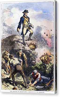 Battle Of Bunker Hill, 1775 Canvas Print by Granger