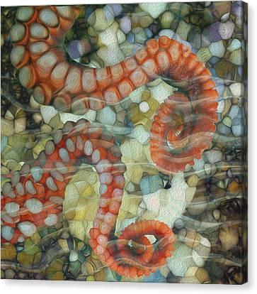 Beneath The Waves Series Canvas Print by Jack Zulli