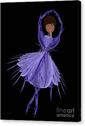 10 Blue Ballerina Canvas Print by Andee Design