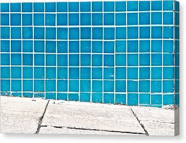 Blue Tiles Canvas Print by Tom Gowanlock