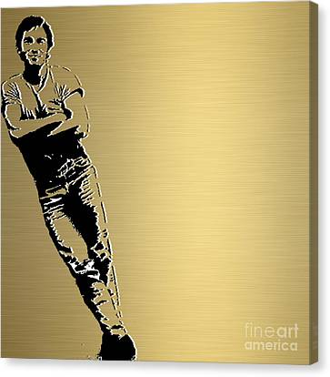 Bruce Springsteen Canvas Print - Bruce Springsteen Gold Series by Marvin Blaine