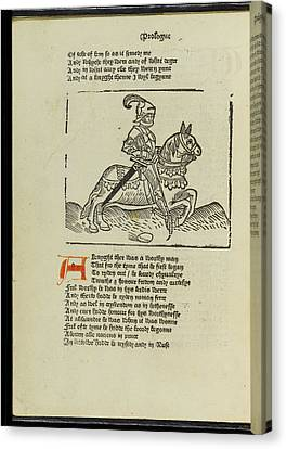 Canterbury Tales Canvas Print by British Library
