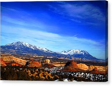 Beauty Mark Canvas Print - Capitol Reef National Park Burr Trail by Mark Smith