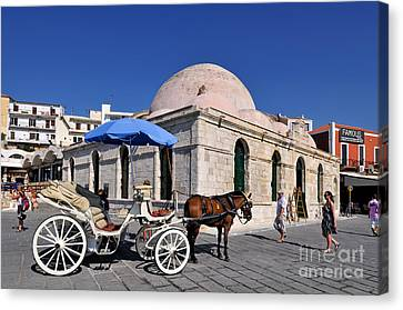Carriages Canvas Print - Chania City by George Atsametakis