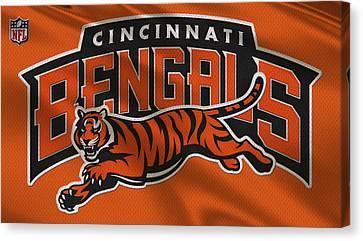 Cincinnati Bengals Uniform Canvas Print by Joe Hamilton