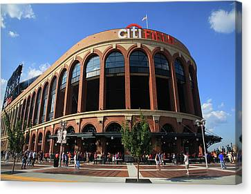 Citi Field - New York Mets Canvas Print by Frank Romeo