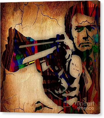 Clint Eastwood Collection Canvas Print