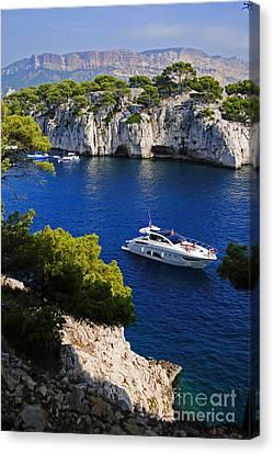 Turquois Water Canvas Print -  Beautiful Coast Of Cote D'azur by Maja Sokolowska