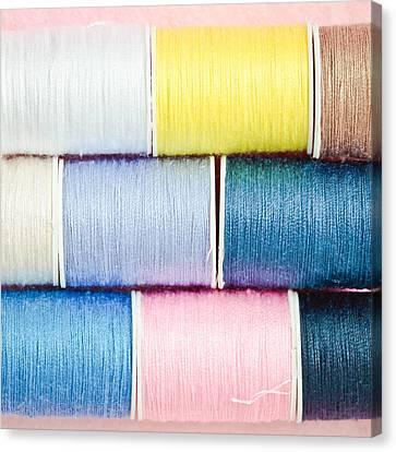 Cotton Reels Canvas Print by Tom Gowanlock