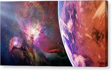 Earth-like Alien Planet Canvas Print