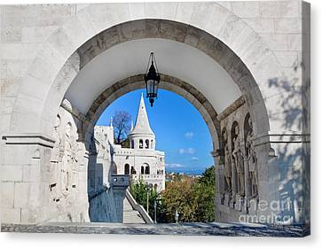 Fisherman's Bastion In Budapest Canvas Print by Michal Bednarek