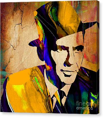 Colorful Canvas Print - Frank Sinatra by Marvin Blaine