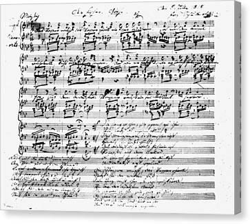 Schubert Canvas Print - Franz Schubert (1797-1828) by Granger
