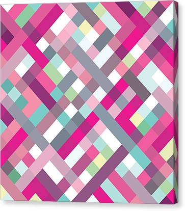 Canvas Print featuring the digital art Geometric Art by Mike Taylor
