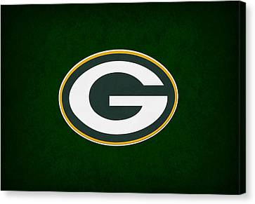 Football Canvas Print - Green Bay Packers by Joe Hamilton