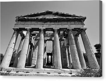 Hephaestus Temple Canvas Print by George Atsametakis