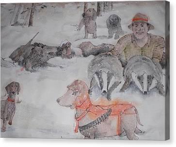 Hunting Season Comes Again Album Canvas Print