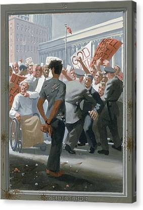 10. Jesus Before The People / From The Passion Of Christ - A Gay Vision Canvas Print by Douglas Blanchard