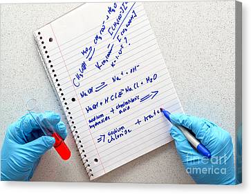 Laboratory Experiment In Science Research Lab Canvas Print by Science Research Lab By Olivier Le Queinec