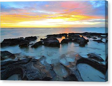 10 Mile Lagoon Canvas Print by Sally Nevin