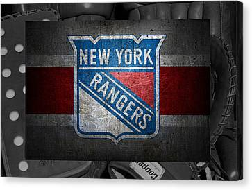 New York Rangers Canvas Print by Joe Hamilton