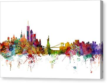 New York Skyline Canvas Print by Michael Tompsett
