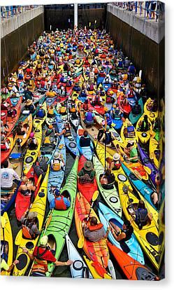Park To Park Paddle 2013 Canvas Print