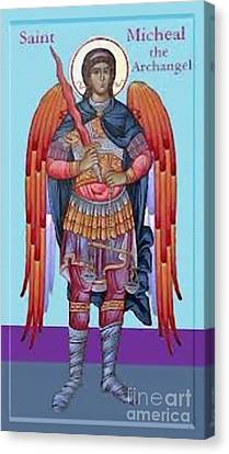 Saint Michael Canvas Print by Archangelus Gallery