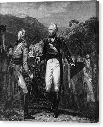 Saratoga Surrender, 1777 Canvas Print by Granger